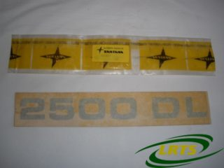 GENUINE SANTANA LAND ROVER GREY 2500 DL DECAL BANDA DECORATIVA PART 737897