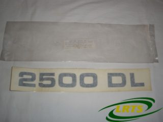 GENUINE SANTANA LAND ROVER BLACK 2500 DL DECAL BANDA DECORATIVA PART 730279