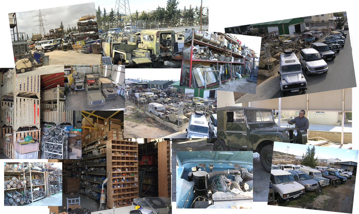 Land Rover Reasure Shop Collage