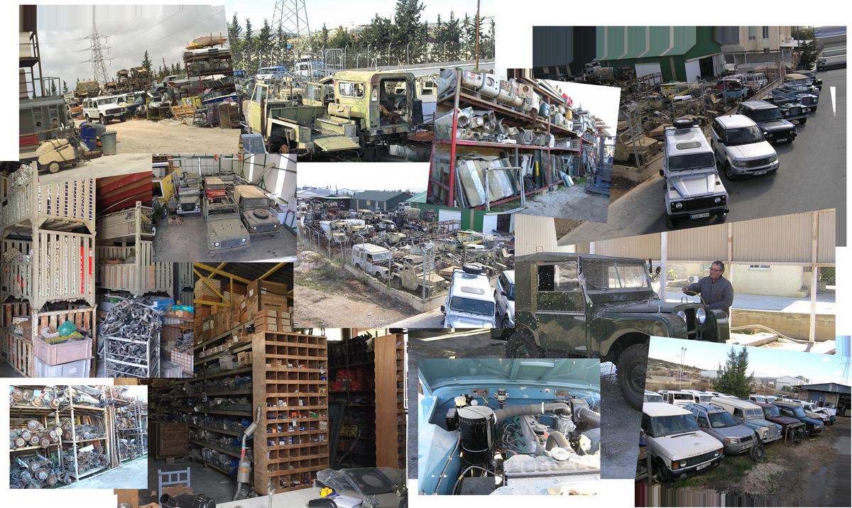 Land Rover Reasure Shop Collage