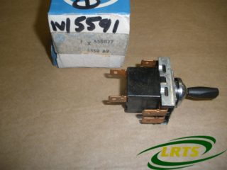 NOS GENUINE BRITISH LEYLAND INTERIOR LIGHT SWITCH LAND ROVER SERIES PART 555877