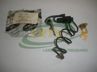 GENUINE LAND ROVER CONTACT POINT SET DUCELLIER TYPE DISTRIBUTOR PART RTC3283