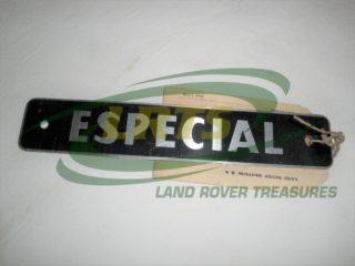 GENUINE SANTANA LAND ROVER DECAL BADGE ESPECIAL PART 201013