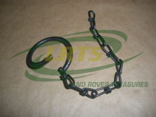 LAND ROVER FRONT BUMPER TOWING CLIP & CHAIN MILITARY DEFENDER PART RRC3985