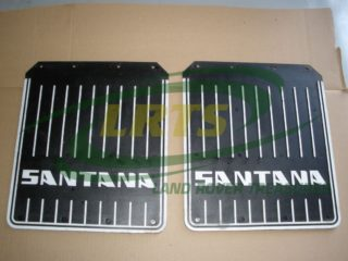 GENUINE SANTANA LAND ROVER PAIR OF MUD FLAPS