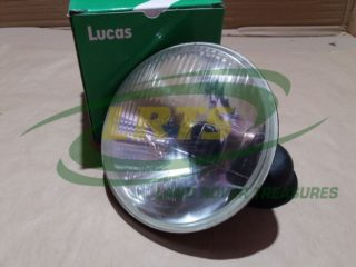 GENUINE LUCAS HEAD LIGHT UNIT FOR LEFT HAND DRIVE LAND ROVER SERIES 1969 ONWARD PART RTC3684