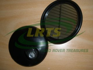 LAND ROVER SERIES ROUND TYPE MIRROR HEAD WITH CLAMP AND NUT PAIR PART 606187