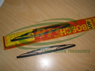 NOS LAND ROVER SERIES PAIR WIPER BLADES BOSCH FLAT PUSH ON FIXING TYPE PART 575437