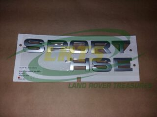 LR020467 DECAL NAME PLATE SPORT HSE TAILGATE LAND ROVER RANGE ROVER SPORT