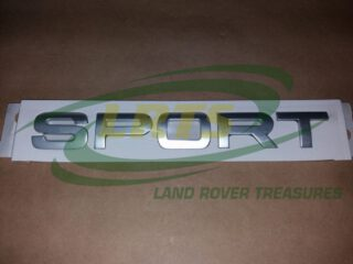 LR020469 DECAL NAME BADGE SPORT TITAN SILVER TAILGATE LAND ROVER RANGE ROVER SPORT