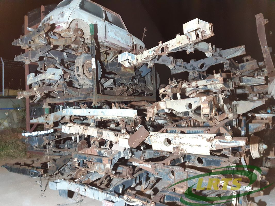 salvage Cyprus Land Rover LRTS parts chassis