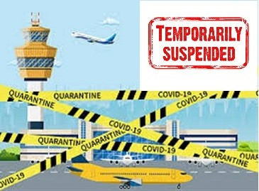 TEMPORARILY SUSPENSION OF POSTAL SERVICES TO CERTAIN COUNTRIES